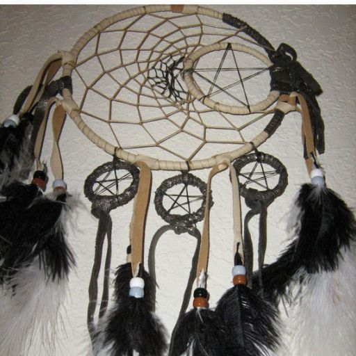 Moonlite Dancer Dreamcatcher in dance to the moon- midnight black Ostrich feathers and moon dust-  Moonlite Dancer Dreamcatcher comes with magic moon dust to sprinkle over your dreamcatcher to catch the bad dreams. Every dreamcatcher that I make comes with the Legend of the Dreamcatcher, this magical dreamcatcher will take you to where all good dreams are. Let magical moonlite dancer make magical dreams for you....Made with a 7 inch dreamcatcher ring. Sevens bring good luck...