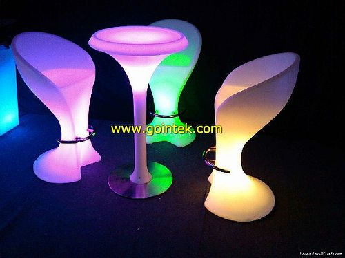 Cute PE Material Color Changing Led High Bar Table please contact us if you want to
