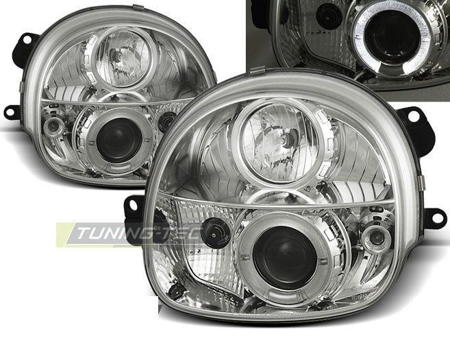 New set headlights rhd #lpre03 renault #twingo 03.93-09.98 angel eyes #chrome,  View more on the LINK: http://www.zeppy.io/product/gb/2/282241934618/