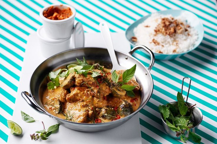 This fragrant curry paste is a perfect base for chicken, vegetable and fish curries. Here, Valli Little has used it in a chicken and eggplant curry with absolutely tasty results.