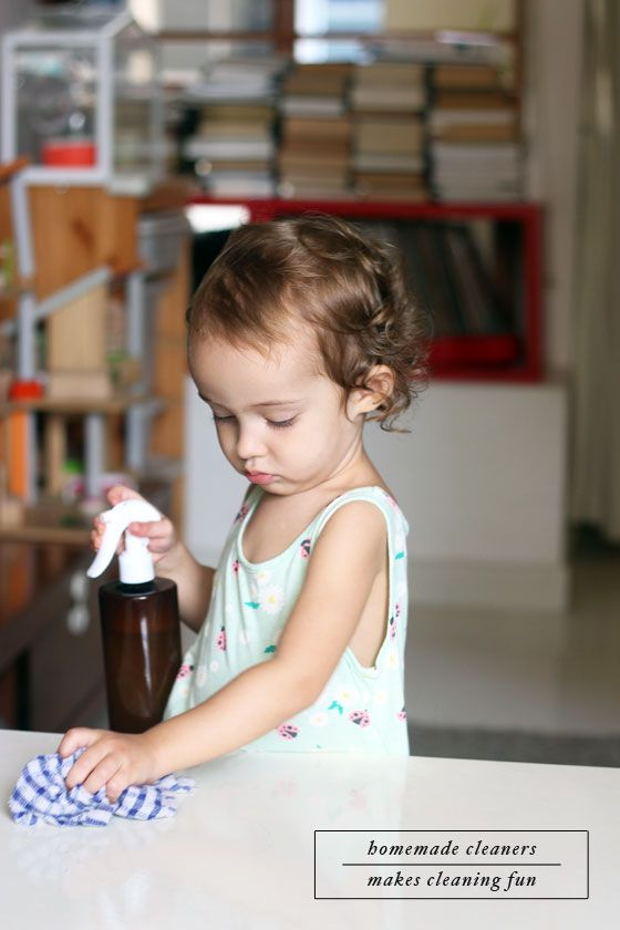 Lavender Household Cleaner Recipe - it's perfectly safe and natural, plus kids actually think it's fun to clean!
