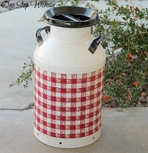 Milk Can Makeover