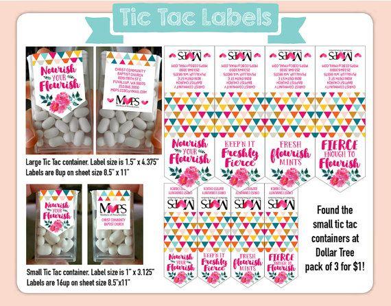 Fierce Flourishing Tic Tac Labels