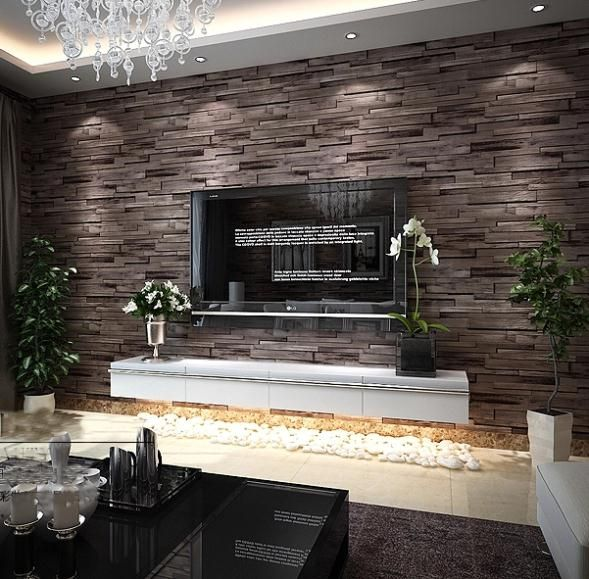 New 3D Luxury Wood Blocks Effect Brown Stone Brick 10M Vinyl Wallpaper Roll Living Room Background Wall Decor Art Wall Paper-in Wallpapers from Home & Garden on Aliexpress.com | Alibaba Group