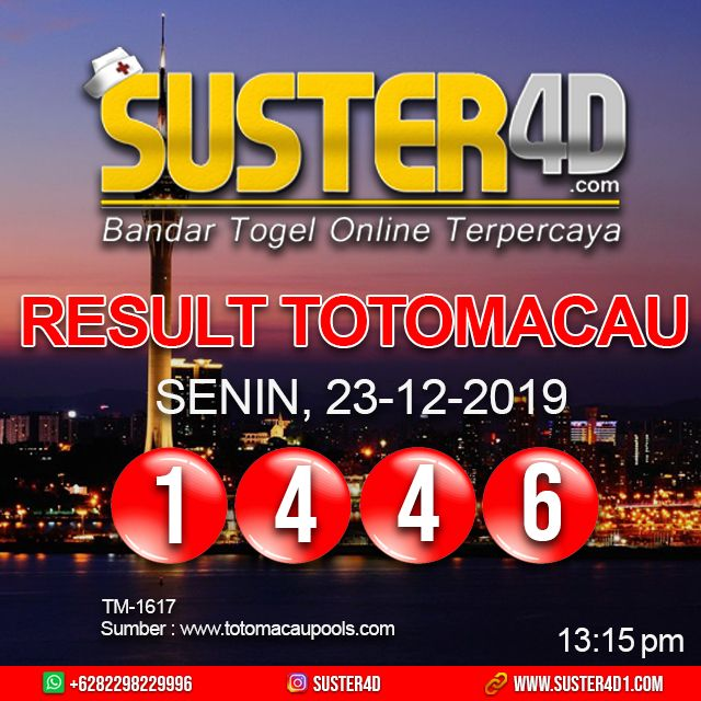 Maybe you would like to learn more about one of these? Result TOTO MACAU : 1446 SENIN, 23 DESEMBER 2019 | Minggu