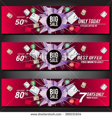 Big sale banner. Sale background.  - stock vector