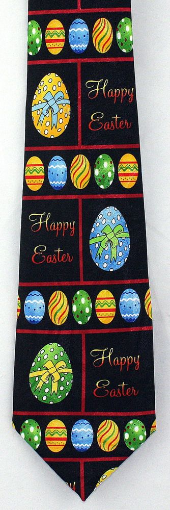21 best holiday easter designs images on pinterest bow ties bows happy easter eggs mens necktie dyed egg holiday novelty gift him black tie new stevenharris negle
