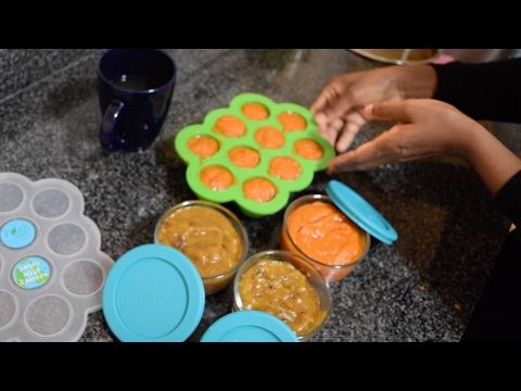 first baby foods/Instant pot baby food/carrot baby food/baby apple puree/mango baby food puree - YouTube