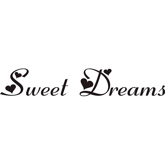 Design: Sweet Dreams Color: Black Materials: Vinyl Transfers to wall in minutes Easy to apply, remove Application instructions included Dimensions: 6.1 inches high x 36 inches wide Color: Black.