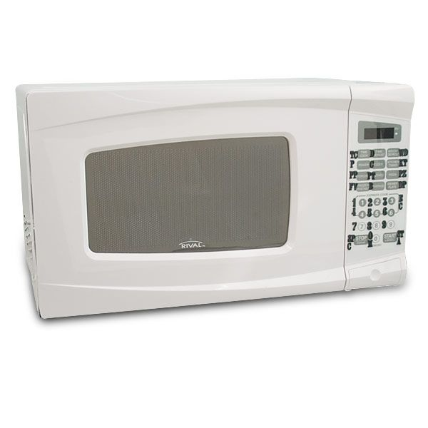 Compact Microwave-Express Cook-Tactile-White - Kitchen Accessories - MaxiAids
