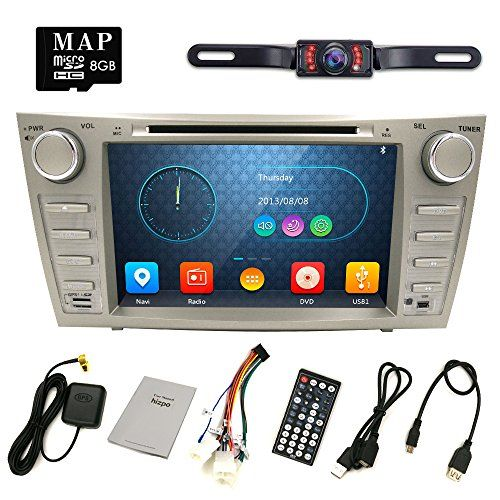Hizpo Rear Camera Included For TOYOTA Camry 2007 2008 2009 2010 2011 8 inch Indash CAR DVD Player GPS Navigation Navi iPod Bluetooth HD Touchscreen Radio RDS FM+Free US GPS Map Card. For product info go to:  https://www.caraccessoriesonlinemarket.com/hizpo-rear-camera-included-for-toyota-camry-2007-2008-2009-2010-2011-8-inch-indash-car-dvd-player-gps-navigation-navi-ipod-bluetooth-hd-touchscreen-radio-rds-fmfree-us-gps-map-card/