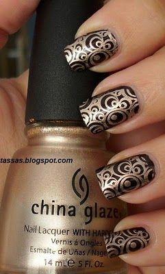 Konad #metallic #nail #art - If you like these nails follow my board 'nails adorned'