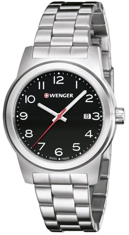 Wenger Watch Field Color #add-content #bezel-fixed #bracelet-strap-steel #brand-wenger #case-material-steel #case-width-41mm #classic #date-yes #delivery-timescale-4-7-days #dial-colour-black #gender-mens #movement-quartz-battery #official-stockist-for-wenger-watches #packaging-wenger-watch-packaging #style-dress #subcat-field #supplier-model-no-01-0441-145 #warranty-wenger-official-3-year-guarantee #water-resistant-100m