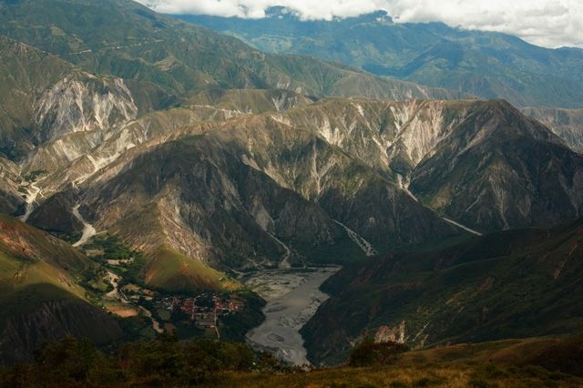 Panoramic View of Chicamocha Canyon,One of the World's Seven Wonders , Santander , Colombia