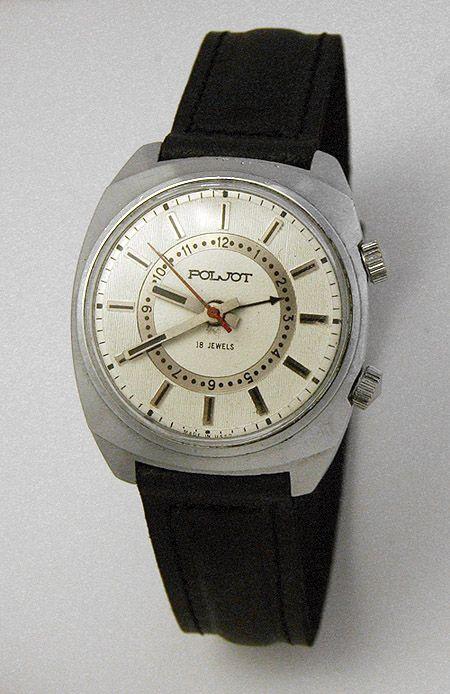 Russian mechanical POLJOT 2612 signal-type alarm watch USSR 1976 | All Russian Watches