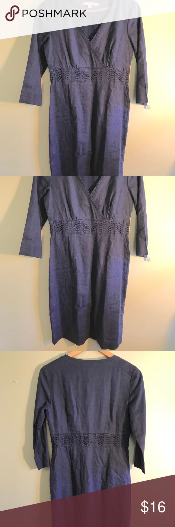 Size 4 Blue Linen Boden dress side zip Very nice blue linen Boden. Size 4. Side zip. Excellent shape. Boden Dresses Mini