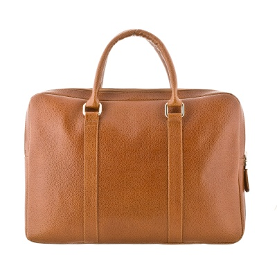 Textured-leather briefcase, in a variety of colors