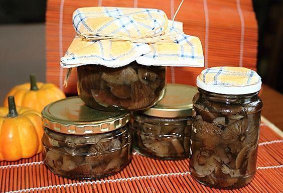 Václavky naložené ve sladkokyselém nálevu, sterilované.