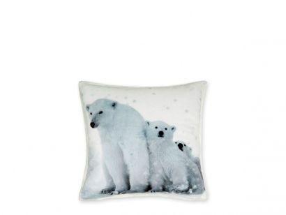 Poduszka z nadrukiem niedźwiedzi polarnych, element dodatkowy zestawu pościeli z niedźwiedziami. Więcej na http://tetex.pl/oferta.php?item_id=4e44597a