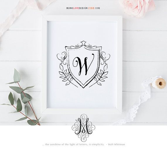 Wedding Monogram Logo Design Family Crest Design Personal Monogram Design Calligraphy Name Art Personal Monogram Name Art Printable Wall Art