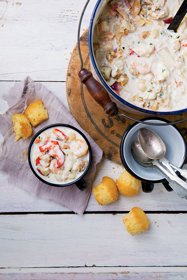 Seafood Chowder with Lobster | New Hampshire  This is the Newick's recipe!