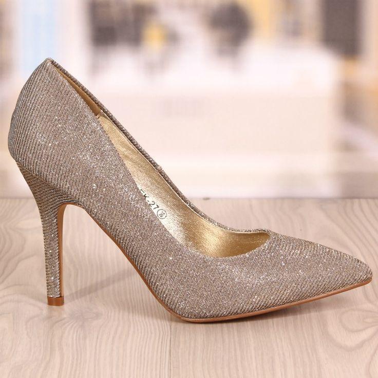 Pantofi Stiletto Rebecca Aurii Cod: 773