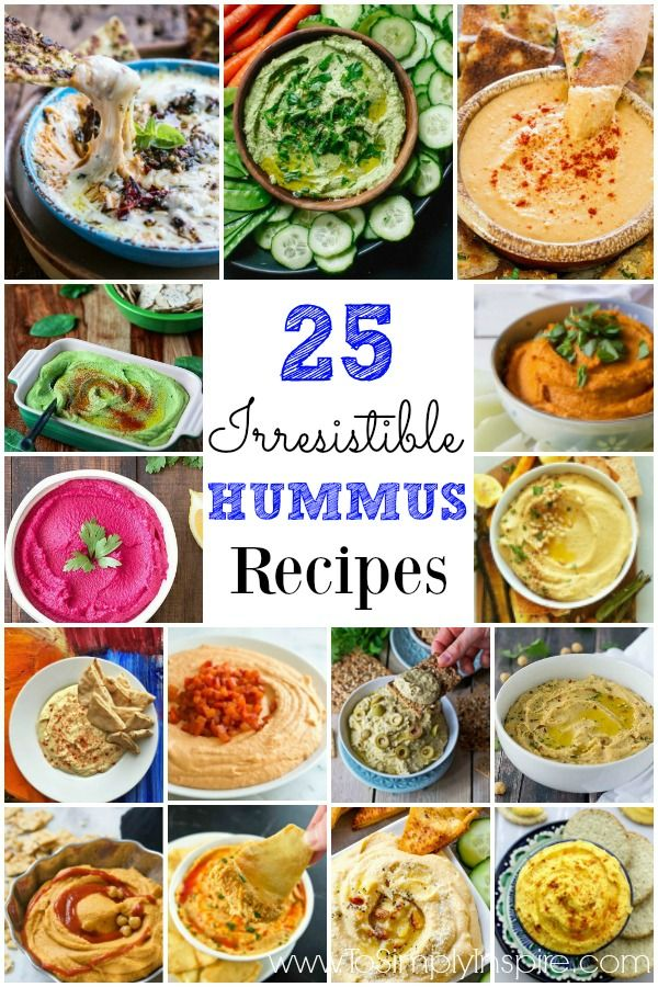 From classics to clever, any of these 25 Irresistible Hummus Recipes will certainly please any palette.
