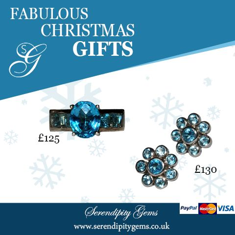 Do you love blue? Sparkle in blue topaz this festive season with Serendipitygems www.serendipitygems.co.uk