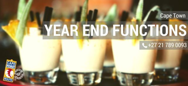 2016 Year End Function Ideas in Cape Town  End your business year on a high note. Try something fresh, innovative and fun to celebrate the year's achievements and hard work. Below are some unique Cape Town venues which we've paired with an exciting event including lunch or dinner.
