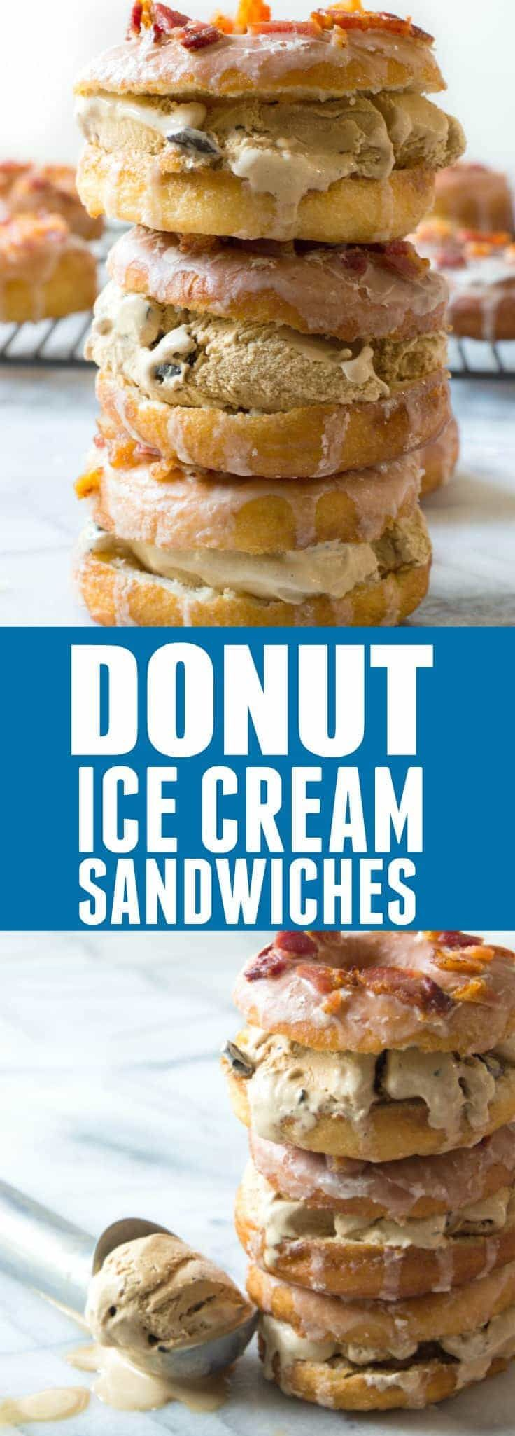 Donut Ice Cream Sandwiches! These easy to make yeast donuts are light and fluffy just like the bakery version and come together fairly quickly! Dress it up with some coffee glaze, bacon crumbles and fill with some coffee flavored ice cream for the ultimate treat. I am an official ambassador for Tom Thumb who provided me...Read More