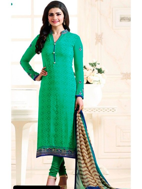 Angelic Jade Green Prachi Desai Salwar Suit