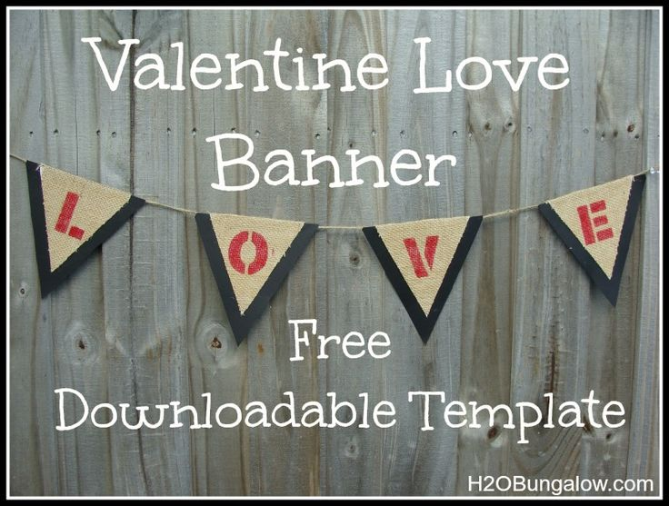 Valentine Banner With Free Template