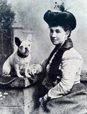 antique Frenchie portrait