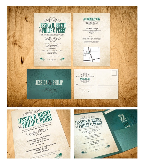"""Like the invitations but LOVE THIS COLOR!  The perfect """"peacock"""" color--not too bright, not too dark."""