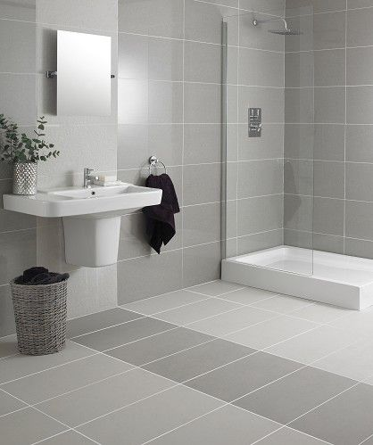 Bathroom Tiles White brilliant white and gray bathroom tile chic master features upper