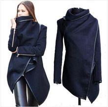 Date 2015 femmes manteau automne hiver laine à manches longues pardessus mode Trench Desigual laine Casacos Femininos s - xxxl(China (Mainland))