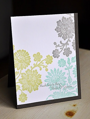 Maile Belles Papertrey Ink Stamps: Scrapbook Card, Lace Bouquets, Color Combos, Birthday Idea, Mail Belle, Ink January, Papertrey Ink, Color Combinations, Sympathy Card