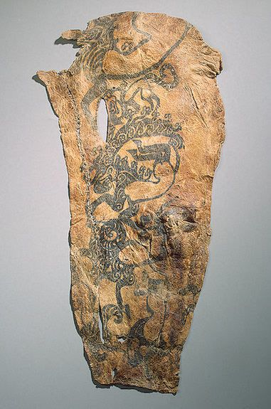 Tattoo from the Right Arm of a Tribal Chief  Pazyryk Culture, 5th century BC  The Hermitage Museum