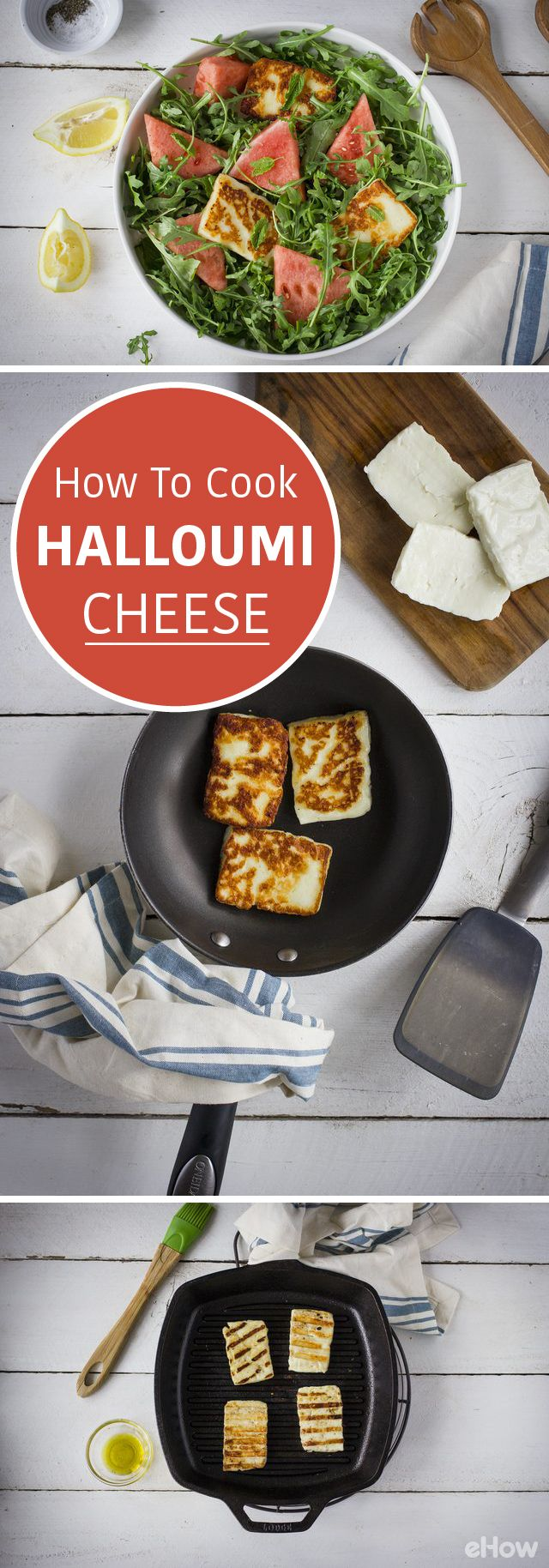 Halloumi is both mild yet salty, making it the perfect companion to a variety of flavors. You can pan-sear it, fry it, or grill it, due to its high melting point. This cheese tastes great on salads, sandwiches, or even when paired with some fruits, like in this watermelon and halloumi salad.  http://www.ehow.com/how_7684226_cook-halloumi-cheese.html?utm_source=pinterest.com&utm_medium=referral&utm_content=freestyle&utm_campaign=fanpage