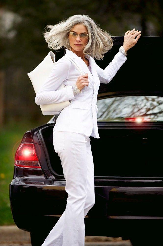 Roxanne Gould Gray Hair Grey Hair Silver Hair Cabelo