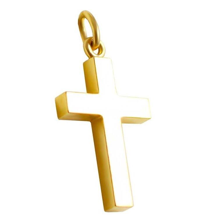 ΣΤ660Τ- Χρυσός βαπτιστικός σταυρός
