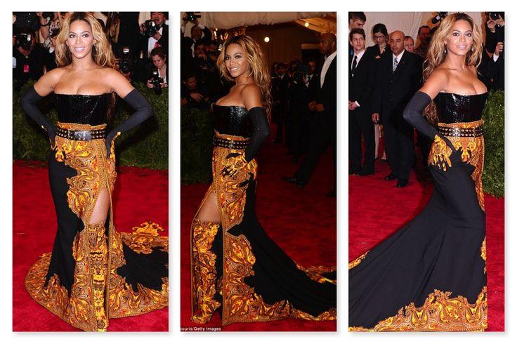 beyonce 2013 met gala | Met Gala 2013: Beyoncé, Kim Kardashian on red carpet, punk or puke ...