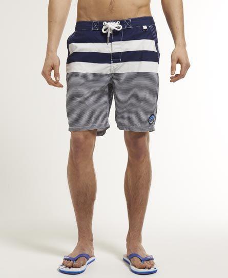 Mens - Beach Hut Shorts in Big Top Stripe Blue | Superdry