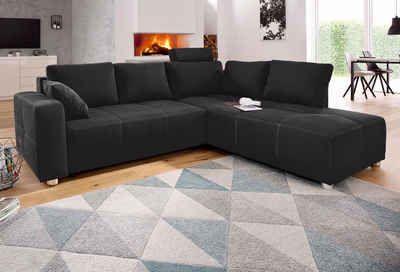 Polsterecke mit Bettfunktion und Bettkasten  #sofa #couch #sofaliebe #neckermannde #ecksofa #schlafsofa #andas #interior #einrichtung #polsterecke