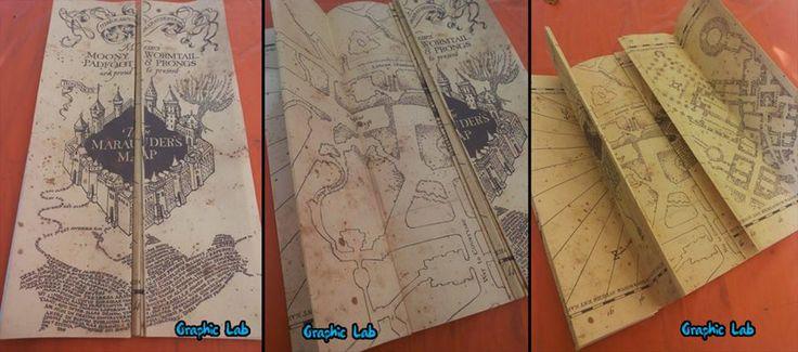 Mappa del Malandrino realizzata completamente a mano, identica all'originale. Dimensioni: 40X180 cm