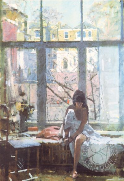 Deborah at the Studio Window Silkscreen Print by Ken Howard