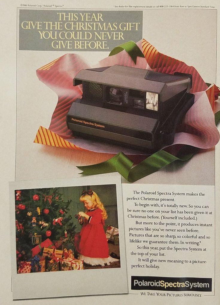 1986 Polaroid Spectra System Camera Vintage Ad