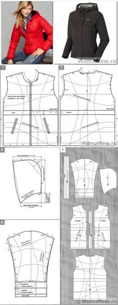 Выкройка куртки с капюшоном. | WomaNew.ru - уроки кройки и шитья.