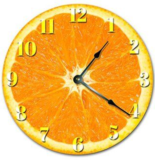 Orange wall art is the perfect type of fall wall art to use  in your home. In fact fall canvas art is  especially trendy this time of year.  Whether it be an orange wall clock, orange canvas art or even orange  wall hangings you will find something perfect to decorate your home for  #autumn.         Fruity large orange wall clock
