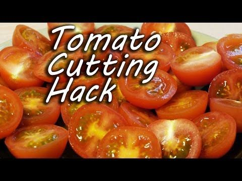 Those little cherry tomatoes are delicious, but slicing them can be a major pain in the ass. Avoid the mess by sticking all your tomatoes in between two plates and cutting horizontally with a big knife. You'll save tons of salad-making prep-time, and won't have to worry about squirting juice all over the counter.    - Redbook.com